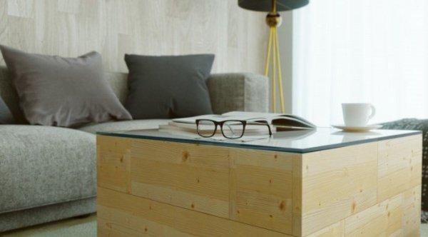 Kreatywny zestaw do budowy-stolik+pufy lub donica