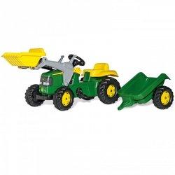 Rolly Toys Traktor na pedały John Deere z łyżką i przyczepą 2-5 Lat