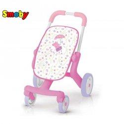 Smoby Świnka Peppa Wózek ze skrętnymi kółkami dla lalek Spacerówka