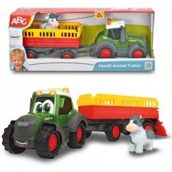 DICKIE ABC Happy Fendt Traktor z przyczepką ze zwierzątkiem