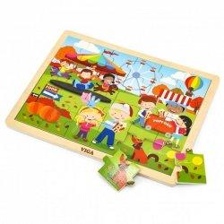 VIGA Drewniane Puzzle Jesień 24 Elementy