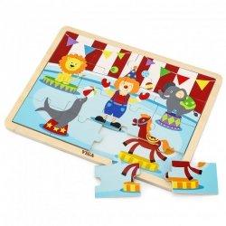 VIGA Drewniane Puzzle Cyrk 16 elementów