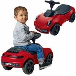 BIG Czerwony Jeździk Porsche 911 Klakson Ciche Koła
