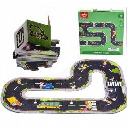 TOOKY TOY Puzzle dla Dzieci Autostrada Makieta 21 el. Certyfikat FSC