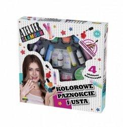 Zestaw do makijażu Atelier Glamour - Kolorowe Paznokcie i usta