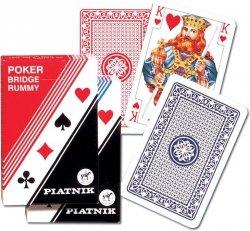 Karty Poker - Brydż pojedyncza talia