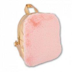 Plecak różowy złoty futerko Pink&Gold