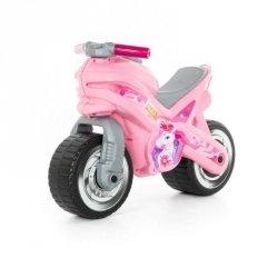 Jeździk motor różowy