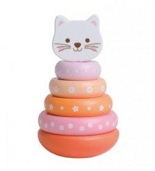 Kotek nakładanka Sorter drewniany Pastelowy