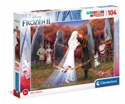 Puzzle 104 elementy - Frozen, Kraina Lodu 2