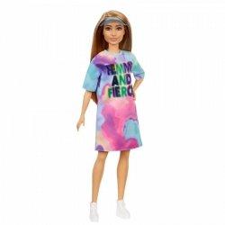 Lalka Barbie Fashionistas Sukienka tie-dye, daszek