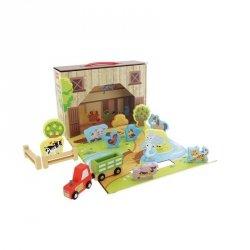 Zestaw figurek Farma zabawka drewniana