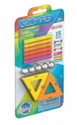 Klocki magnetyczne Rainbow panels Warm Blister 15 elementów