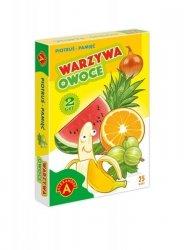Karty Piotruś Pamięć: Warzywa i owoce