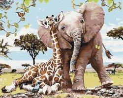 Obraz Paint it! Malowanie po numerach. Przyjaciele z safari