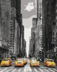 Obraz Paint it! Malowanie po numerach. New York taxi