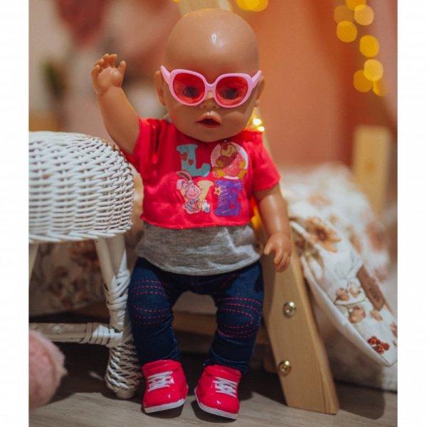 WOOPIE Modne Ubranko dla Lalki LOVE Okulary Buciki 43-46 cm