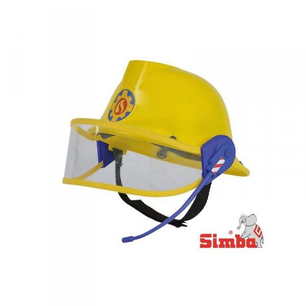SIMBA Strażak Sam Kask z Mikrofonem Regulowany z Szybką