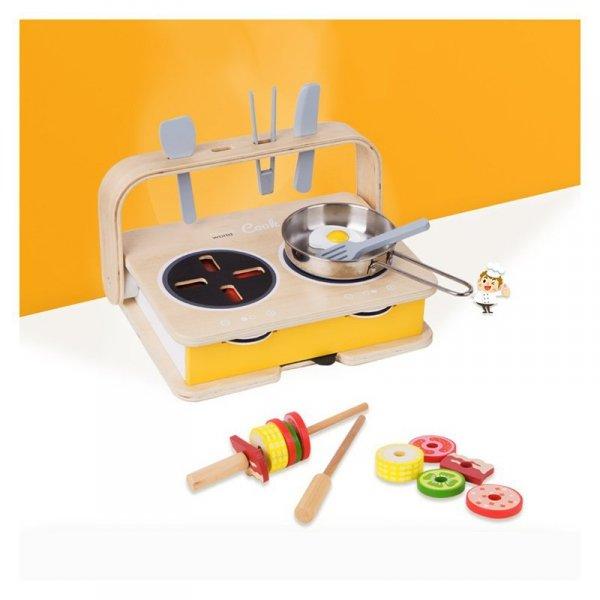 CLASSIC WORLD Drewniana Kuchnia Stołowa 2w1