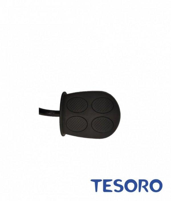 Rowerek trójkołowy  pompowane koła/wolne koło BT-10 Biała rama - niebieski