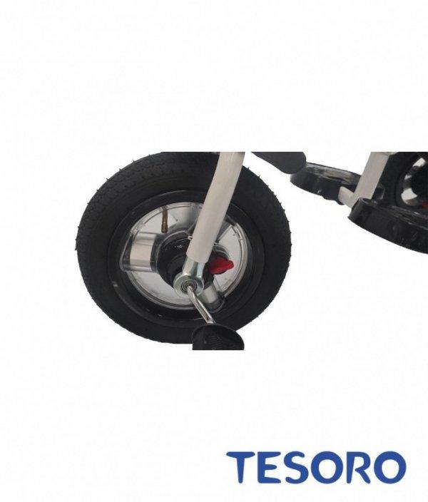 Rowerek trójkołowy BT-10 Biała rama-różowy