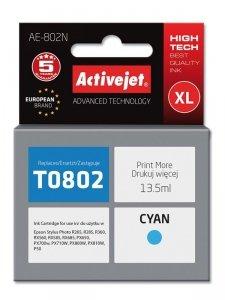 Tusz Activejet AE-802N (zamiennik Epson T0802; Supreme; 13.5 ml; niebieski)