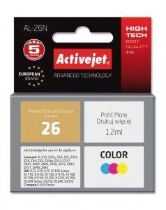 Tusz Activejet AL-26N (zamiennik Lexmark 26 10N0026; Supreme; 12 ml; kolor)