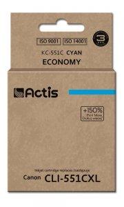 Tusz ACTIS KC-551C (zamiennik Canon CLI-551C; Standard; 12 ml; niebieski)