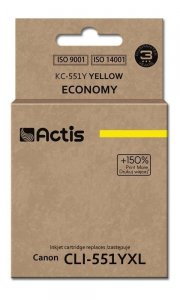 Tusz ACTIS KC-551Y (zamiennik Canon CLI-551Y; Standard; 12 ml; żółty)