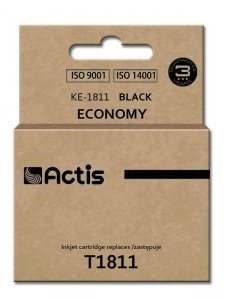 Tusz ACTIS KE-1811 (zamiennik Epson T1811; Standard; 18 ml; czarny)