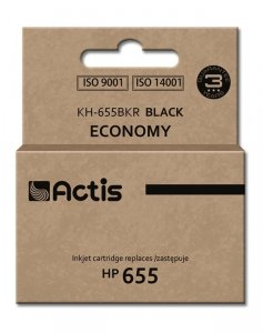 Tusz ACTIS KH-655BKR (zamiennik HP 655 CZ109AE; Standard; 20 ml; czarny)