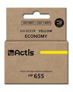 Tusz ACTIS KH-655YR (zamiennik HP 655 CZ112AE; Standard; 12 ml; żółty)