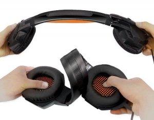 Słuchawki gamingowe REAL-EL GDX-7700 SURROUND 7.1 (black-orange, z wbudowanym mikrofonem)