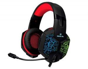 Słuchawki gamingowe REAL-EL GDX-7750 SURROUND 7.1 (black, z wbudowanym mikrofonem)