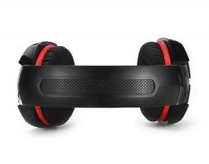 Słuchawki gamingowe REAL-EL GDX-8000 VIBRATION SURROUND 7.1 BACKLIT (black/red, z wbudowanym mikrofonem)