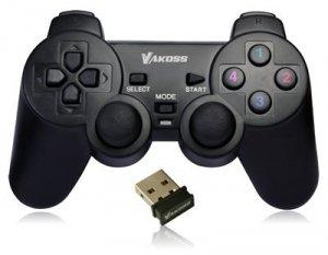 Vakoss GP-3925BK kontroler gier Gamepad PC,Playstation 3 Analogowa/Cyfrowa RF Czarny