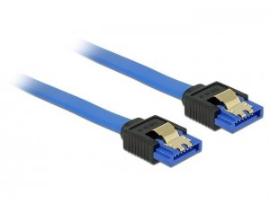 Kabel DELOCK 84979 (SATA - SATA ; 0,50m; kolor niebieski)