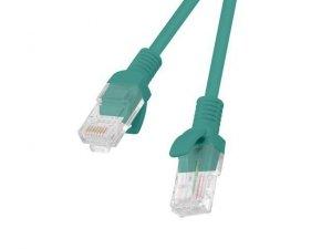 Kabel Patchcord Lanberg PCU5-10CC-0150-G (RJ45 - RJ45 ; 1,5m; UTP; kat. 5e; kolor zielony)