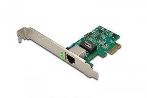 Karta sieciowa DIGITUS DN-10130 (PCI-E, RJ-45; 1x 10/100/1000Mbps)