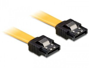 Kabel DELOCK 82805 (SATA - SATA ; 0,30m; kolor żółty)