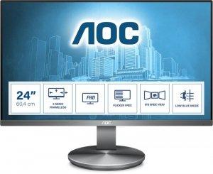Monitor AOC I2490VXQ/BT (23,8; IPS/PLS; FullHD 1920x1080; DisplayPort, HDMI, VGA; kolor czarno-srebrny)