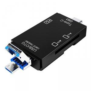VAKOSS CZYTNIK KART 6W1 USB A/ MICRO USB/ USB C/ SD/ MICRO SD/ USB TC-R425X
