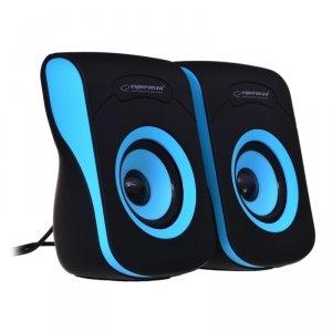 Głośniki komputerowe Esperanza FLAMENCO EP140KB (2.0; kolor czarno-niebieski)