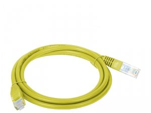 Patchcord UTP A-LAN KKU5ZOL2 (RJ45 - RJ45 ; 2m; UTP; kat. 5e; kolor żółty)