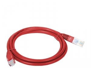 Patchcord UTP A-LAN KKU5CZE1 (RJ45 - RJ45 ; 1m; UTP; kat. 5e; kolor czerwony)