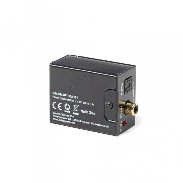 Gembird DSC-OPT-RCA-001 konwerter plików audio Czarny