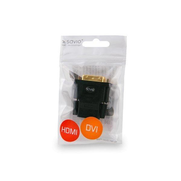 Savio CL-21 cable gender changer DVI HDMI Czarny
