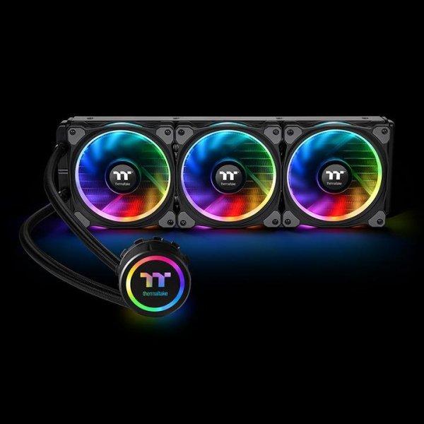 Chłodzenie wodne do komputera Thermaltake CL-W158-PL12SW-A (Miedź; 3 wentylatory x 120 mm; RGB)