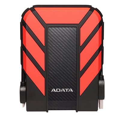 "Dysk zewnętrzny HDD ADATA HD710 AHD710P-2TU31-CRD (2 TB; 2.5""; USB 3.1; 8 MB; 5400 obr/min; kolor czerwony)"