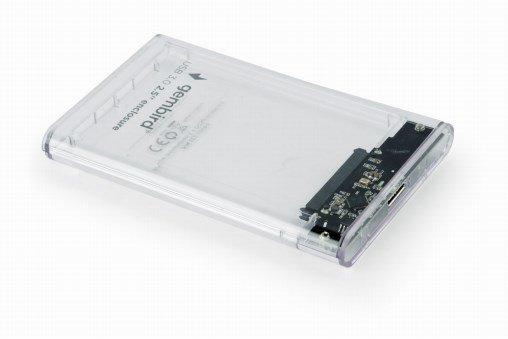 """Gembird EE2-U3S9-6 obudowa do dysków twardych 2.5"""" Obudowa HDD Przezroczysty"""